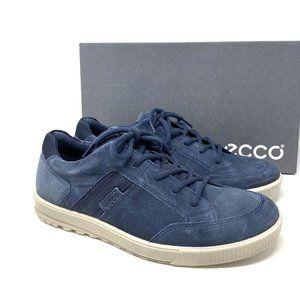 Ecco ENNIO Casual Lace Up Suede Men Sneakers Blue